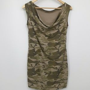 DKNY JEANS Camouflage T Shirt Minidress Small